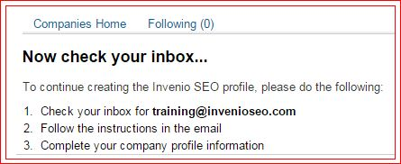 linkedin company page email verification