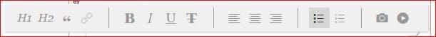 linkedin post editor bar