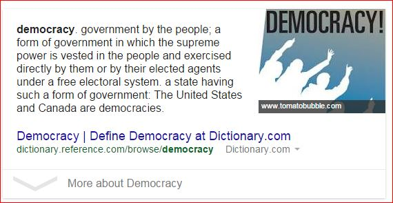 google search results for democracy